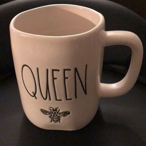 """Rae Dunn White """"Queen"""" Bee Mug"""